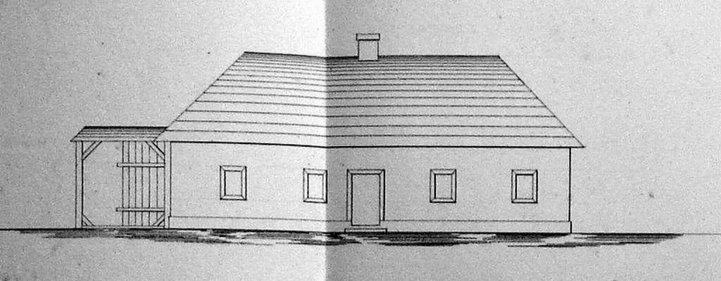Krčma na Klubine zakreslená v roku 1838
